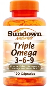 Triple Ômega 3,6,9 Sundown  - 120 Cápsulas